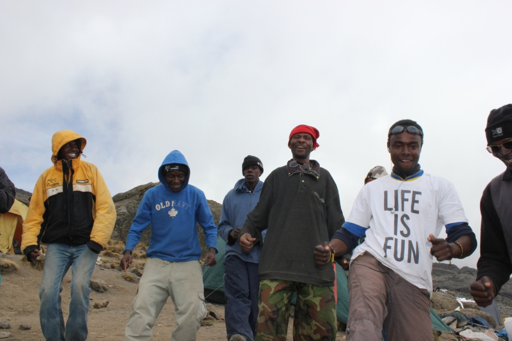 Climb Kilimanjaro group tour total lunar eclipse